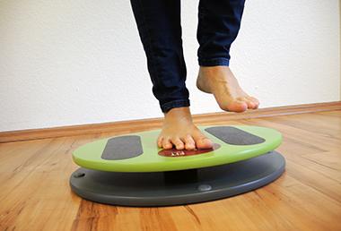 Balance Training mit den Füßen